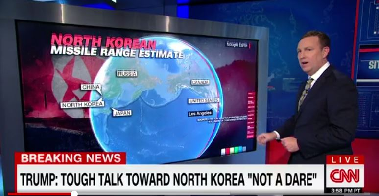 A screenshot of a story about North Korea on CNN.