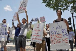 Employment Non-Discrimination protest in 2010.