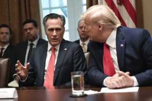 Trump and Mitt Romney in the White House.