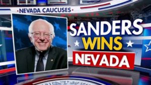 Bernie Sanders: Screen shot of Nevada Primary results.
