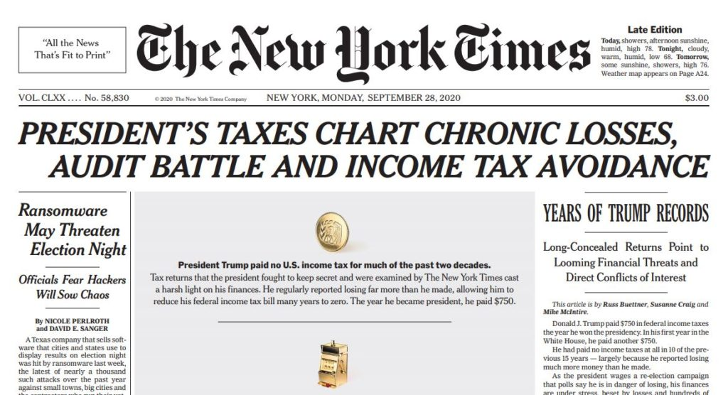 The Times Pulls Back the Covers on the Unrepentant Tax Cheat